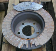 This front brake disc was from a Jeep Cherokee used on the school run!! The owner had skipped a service.